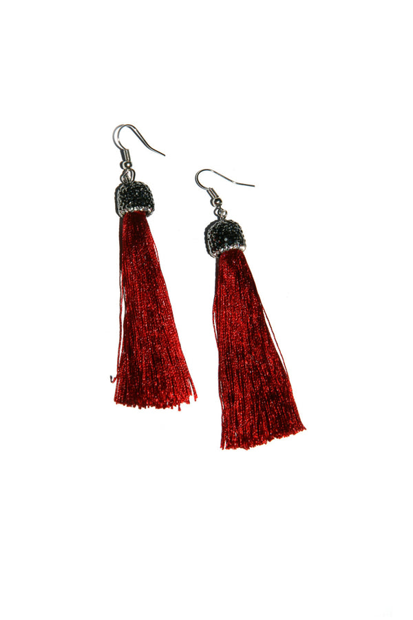Tassel Dangles with Crystals, $12 | Red | Light Years Jewelry
