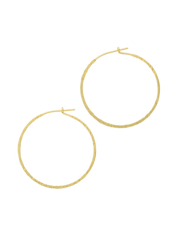 Large Hammered Textured Hoops | Gold Silver Plated Earrings | Light Years