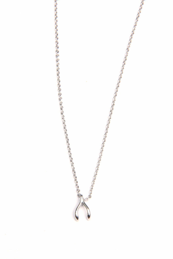 Dainty Wishbone Necklace, $9 | Silver Plated Choker | Light Years Jewelry