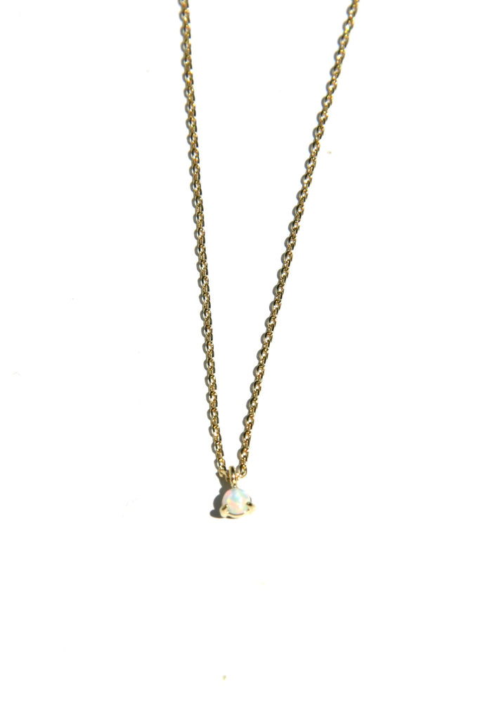 Tiny Opal Dot Necklace | Gold Plated Chain | Light Years Jewelry