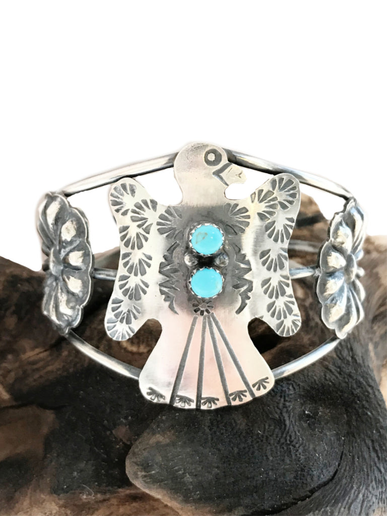 Handmade Eagle Turquoise Cuff Bracelet | Sterling Silver | Light Years