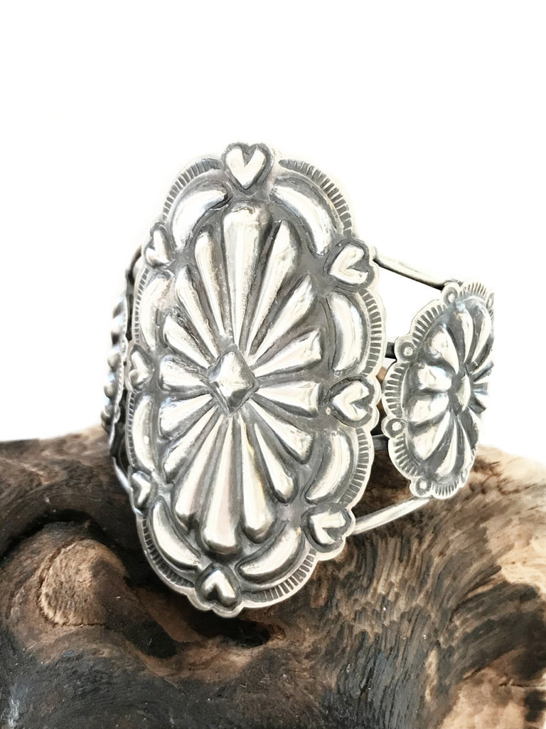 Navajo Concho Statement Cuff Bracelet | Sterling Silver | Light Years