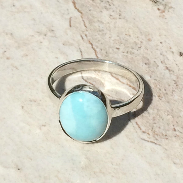 Oval Larimar Ring, $24 | Sterling Silver Sizes 6, 7, 8 | Light Years