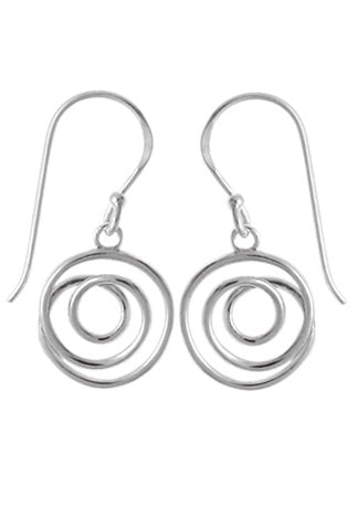 Spiral Dangle Earrings | Sterling Silver | Light Years Jewelry