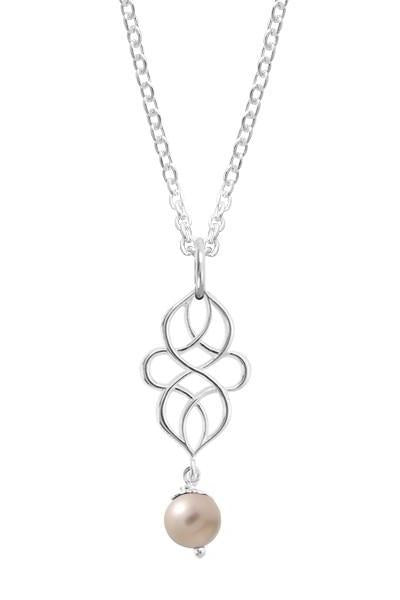 Swirl Pearl Necklace, $32 | Sterling Silver | Light Years Jewelry