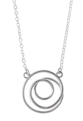Simple Spiral Necklace, $24 | Sterling Silver Chain | Light Years
