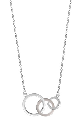 Three Linked Rings Necklace, $41 | Sterling Silver | Light Years Jewelry