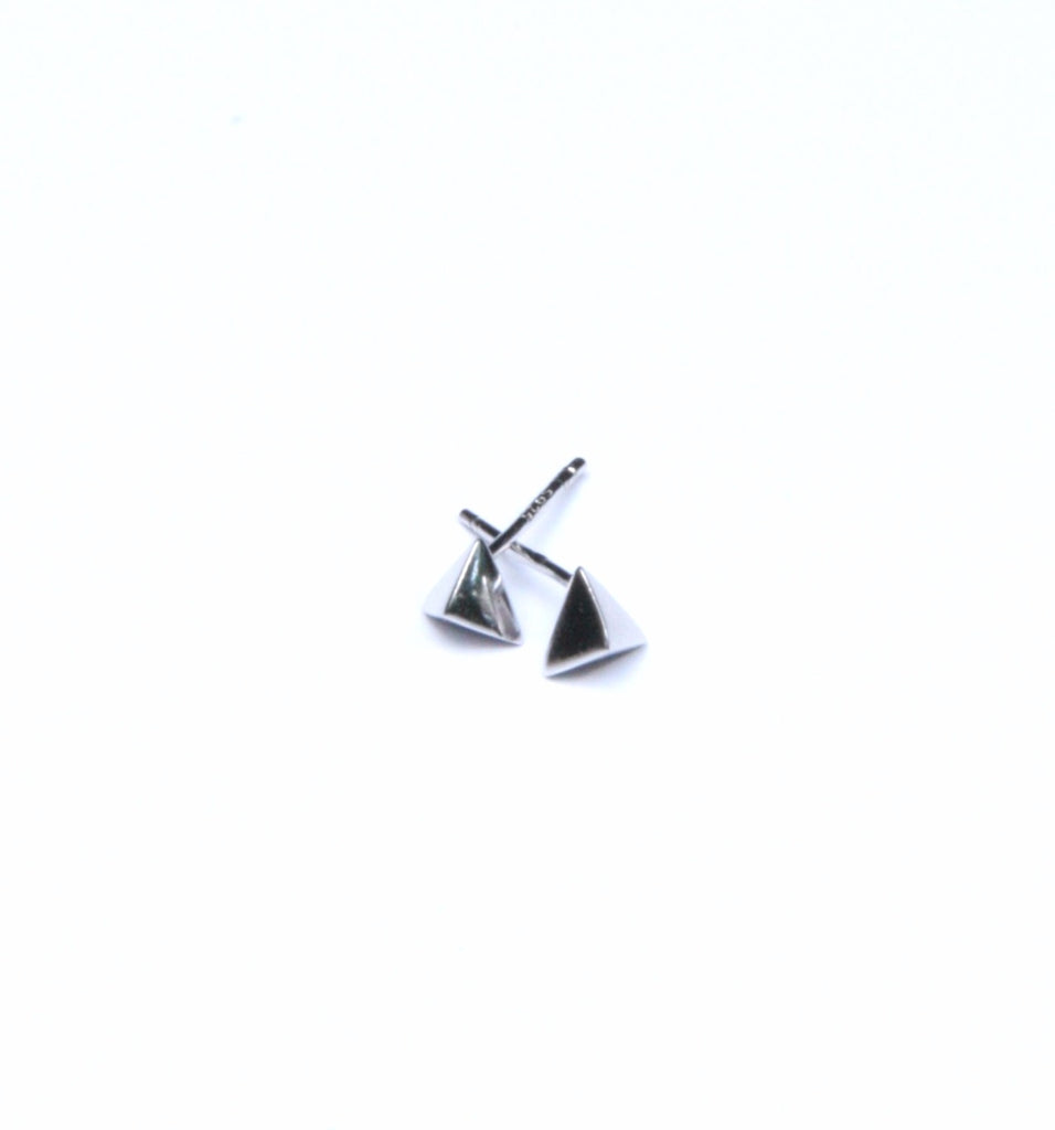 Pyramid Posts, $12 | Gold Vermeil, Sterling Silver | Light Years Jewelry
