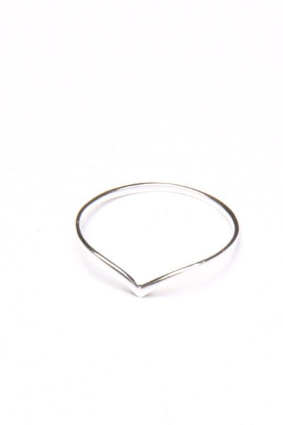 Chevron Ring, $10 | Sterling Silver Band | Light Years Jewelry