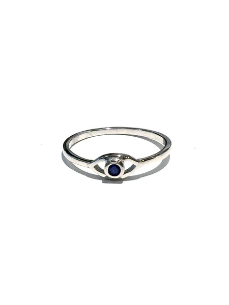 Blue Eye Ring | Sterling Silver Cubic Zirconia | Light Years Jewelry