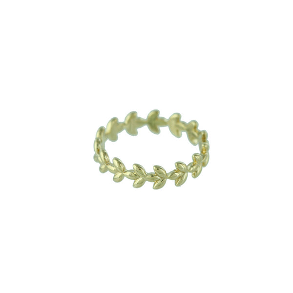 Golden Vine Band | Gold Plated Size 6 7 Ring | Light Years Jewelry