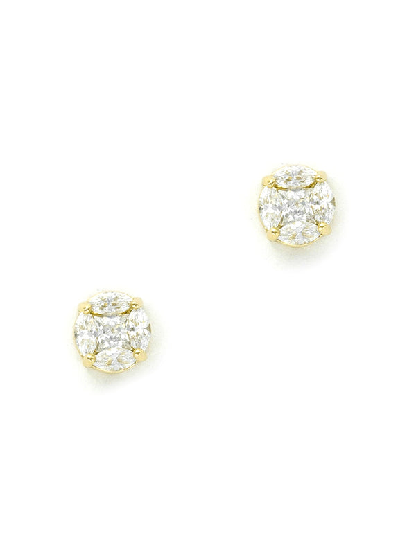 Star Cut CZ Posts | Gold or Silver Plated Studs Earrings | Light Years