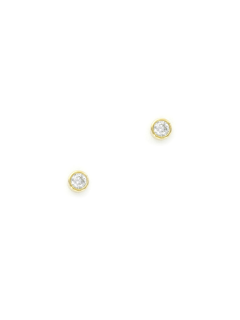 Small Set CZ Stud Earrings | Gold Plated Posts | Light Years Jewelry
