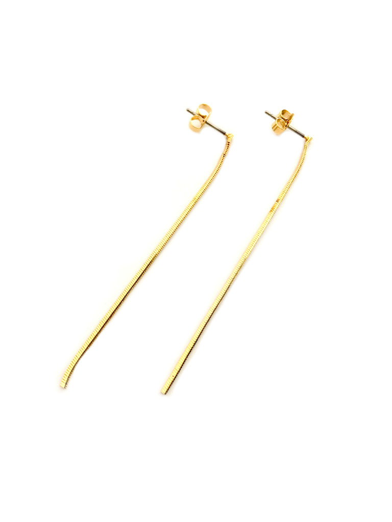 Snake Chain Posts | Gold Plated Studs Earrings | Light Years Jewelry