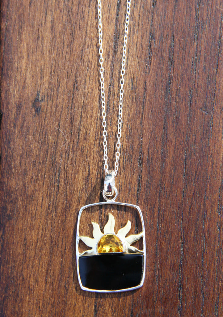 Citrine Sunrise Necklace, $42 | Handmade Sterling Silver | Light Years