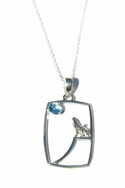 Howling Wolf Necklace, $32 | Sterling Silver, Blue Topaz | Light Years