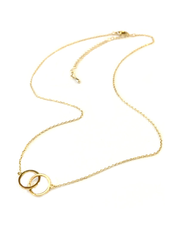 Gold Linked Rings Necklace | Gold Plated Fashion | Light Years Jewelry