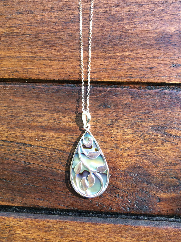 Abalone Vine Necklace, $34 | Sterling Silver | Light Years Jewelry