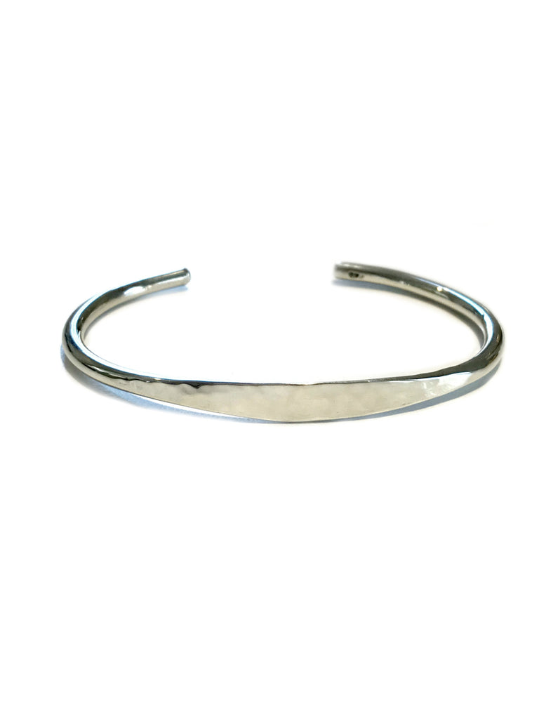 Thick Hammered Cuff Bracelet | Sterling Silver | Light Years Jewelry