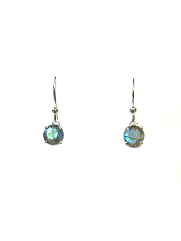 Cut Gemstone Dangles | Labradorite | Sterling Silver Earrings | Light Years Jewelry