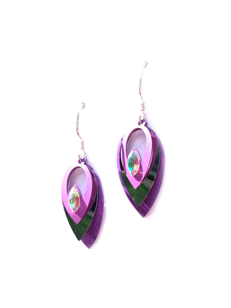 Iridescent Purple Drop by Adajio | Sterling Silver | Light Years Jewelry