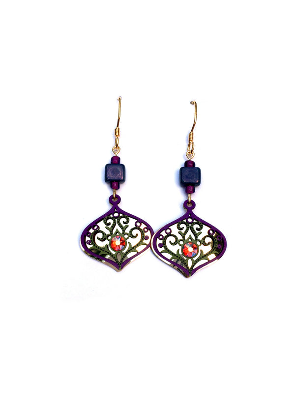 Purple & Green Deco Drops by Adajio | 14kt Gold Fill | Light Years