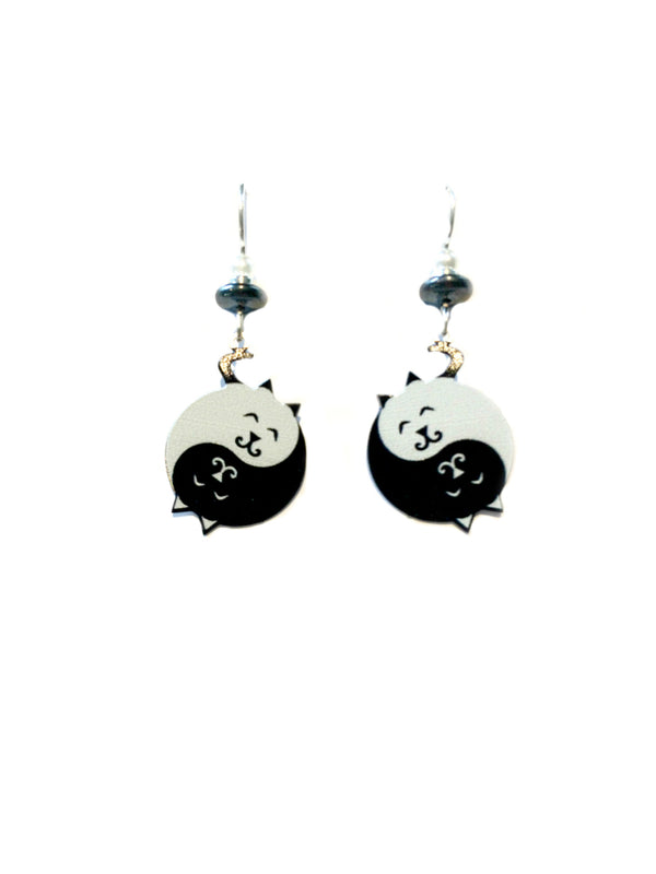 Yin Yang Kitties Dangles Sienna Sky | Sterling Silver USA | Light Years
