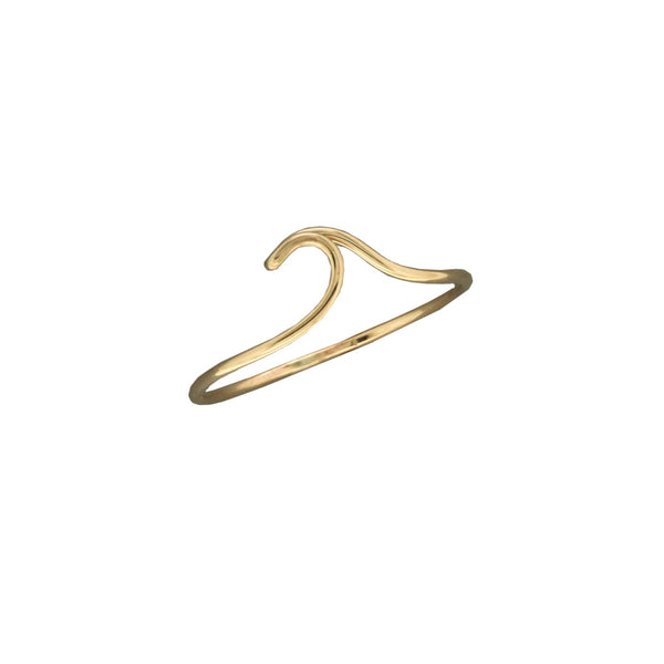 Gold Filled Curling Wave Ring | Sizes 6 7 8 9 | Light Years Jewelry