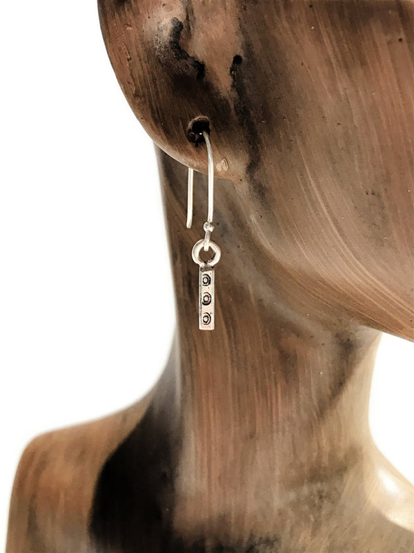 Handmade Hill Tribe Bar Dangles | Sterling Silver Earrings | Light Years