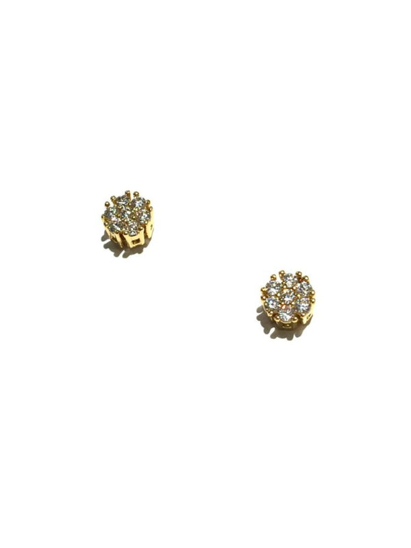 CZ Cluster Posts | Gold Plated Stud Earrings | Light Years Jewelry