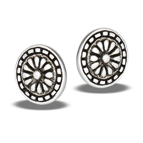 Aztec Design Posts, $12 | Sterling Silver Earrings | Light Years Jewelry