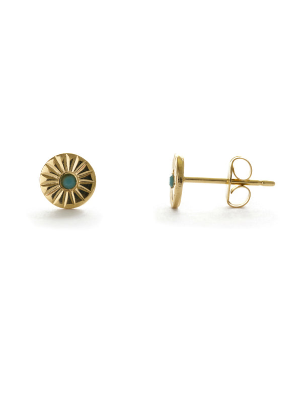 Wink Circle Posts | 24kt Gold Plated Stud Earrings | Light Years Jewelry
