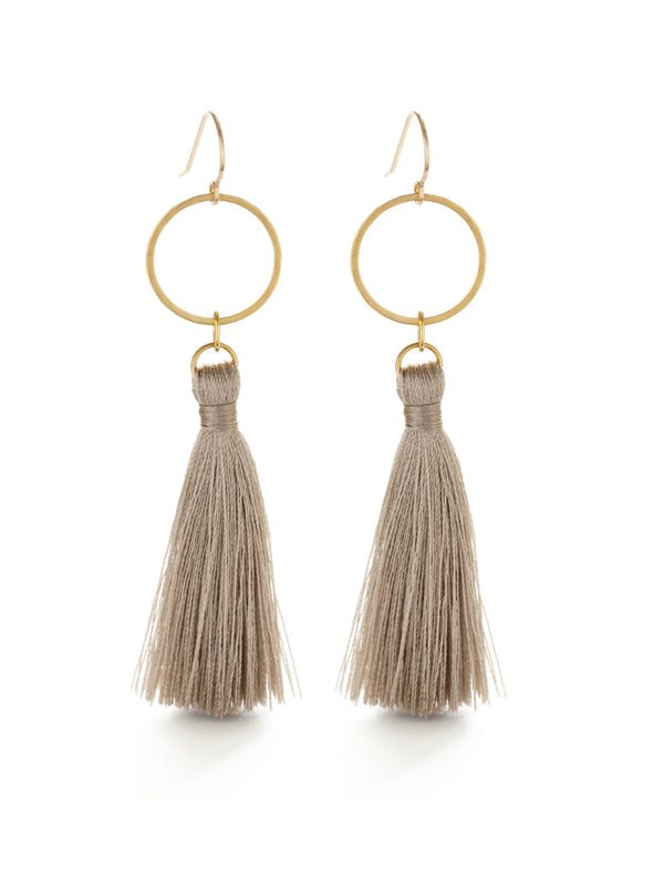 Ring & Tassel Dangle Earrings | 14kt Gold Filled Wires | Light Years