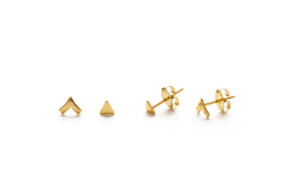 Insignia Stud Combination Set | Silver Gold Posts Earrings | Light Years