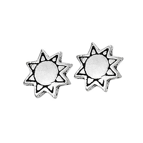 Etched Sun Posts, $10 | Sterling Silver Earrings | Light Years Jewelry