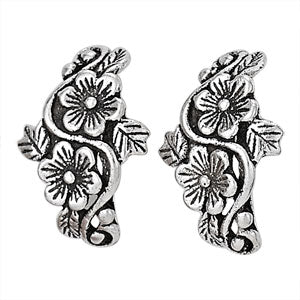 Flower Vine Posts, $16 | Sterling Silver Earring | Light Years Jewelry