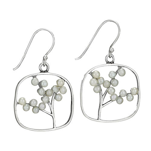 Pearl Tree Dangles, $34 | Sterling Silver Earrings | Light Years Jewelry
