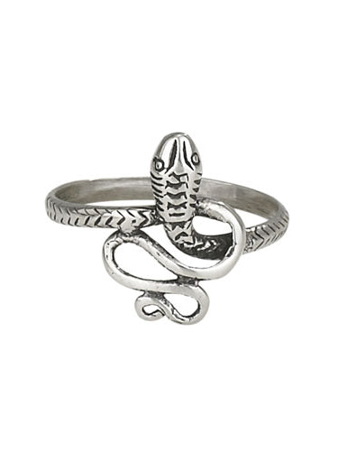 Curled Snake Ring | Sterling Silver Size 6 7 8 9 | Light Years Jewelry