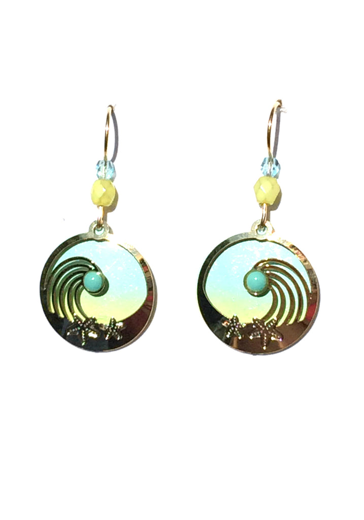 Wave & Starfish Dangles by Adajio | Gold Filled USA Made | Light Years
