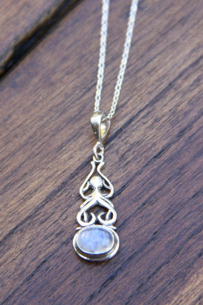 Blue Moonstone Swirl Necklace, $28 | Sterling Silver | Light Years