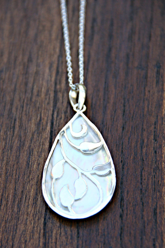 Shell & Vine Necklace, $34 | Sterling Silver | Light Years Jewelry