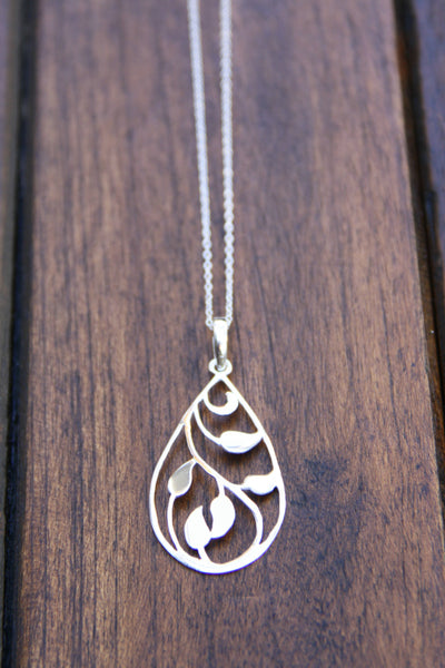 Open Vine Necklace, $27 | Sterling Silver | Light Years Jewelry