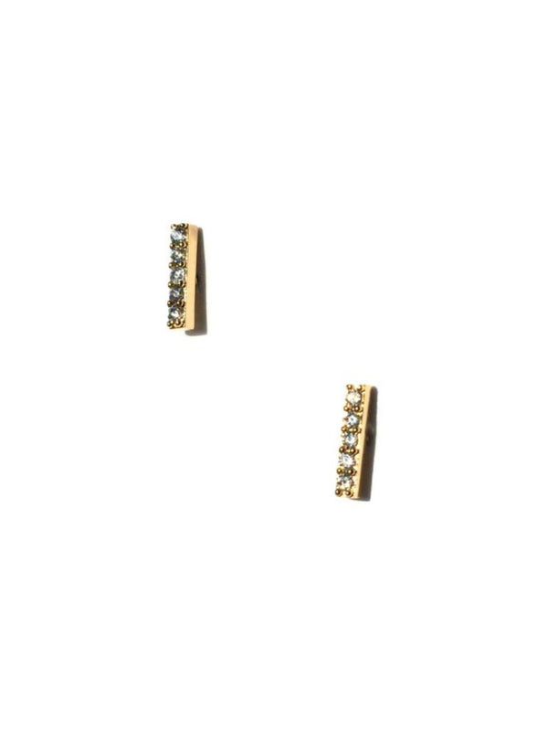 5 CZ Bar Posts | Gold or Silver Plated Studs Earrings | Light Years Jewelry
