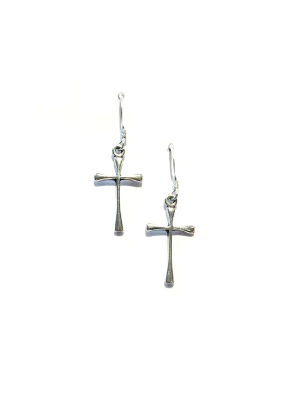Cross Dangle Earrings | Sterling Silver Dangles | Light Years Jewelry