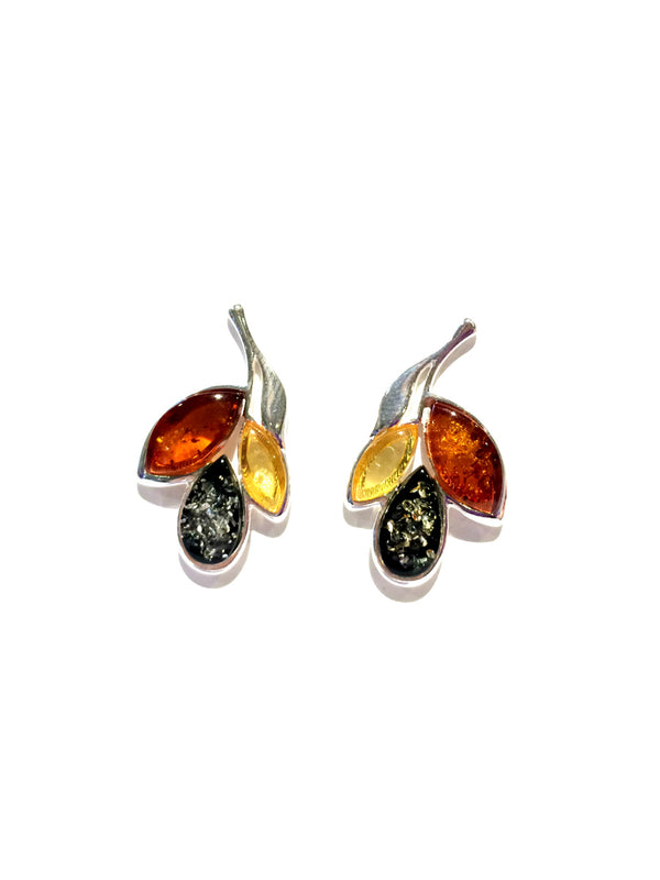 Amber Petal Earrings
