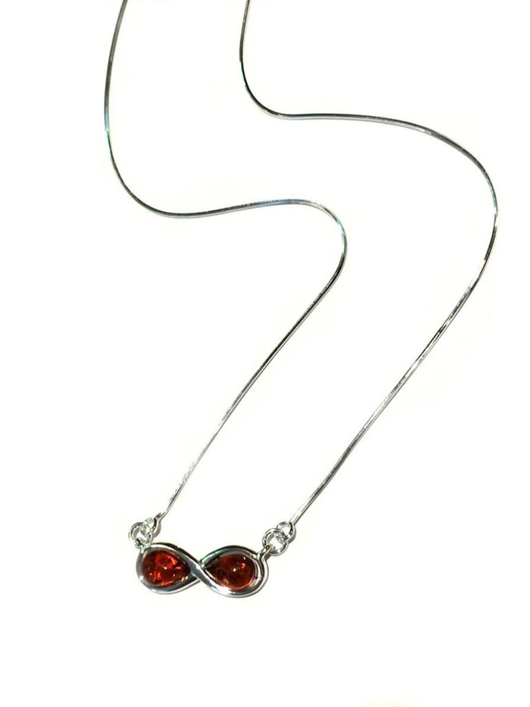 Baltic Amber Infinity Necklace | Sterling Silver | Light Years Jewelry