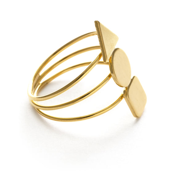 Geometric Stack Ring, $18 | 14kt Gold Plate | Sizes 6, 7, 8 | Light Years