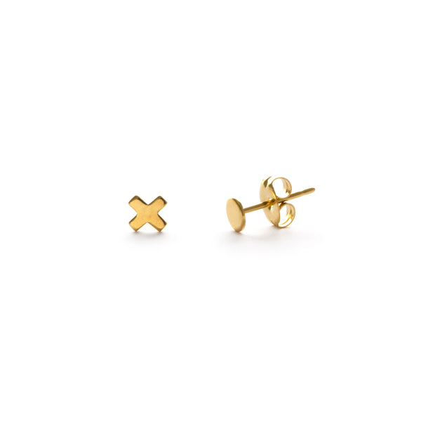 X & O Posts | Gold Plated Stud Earrings | Light Years Jewelry
