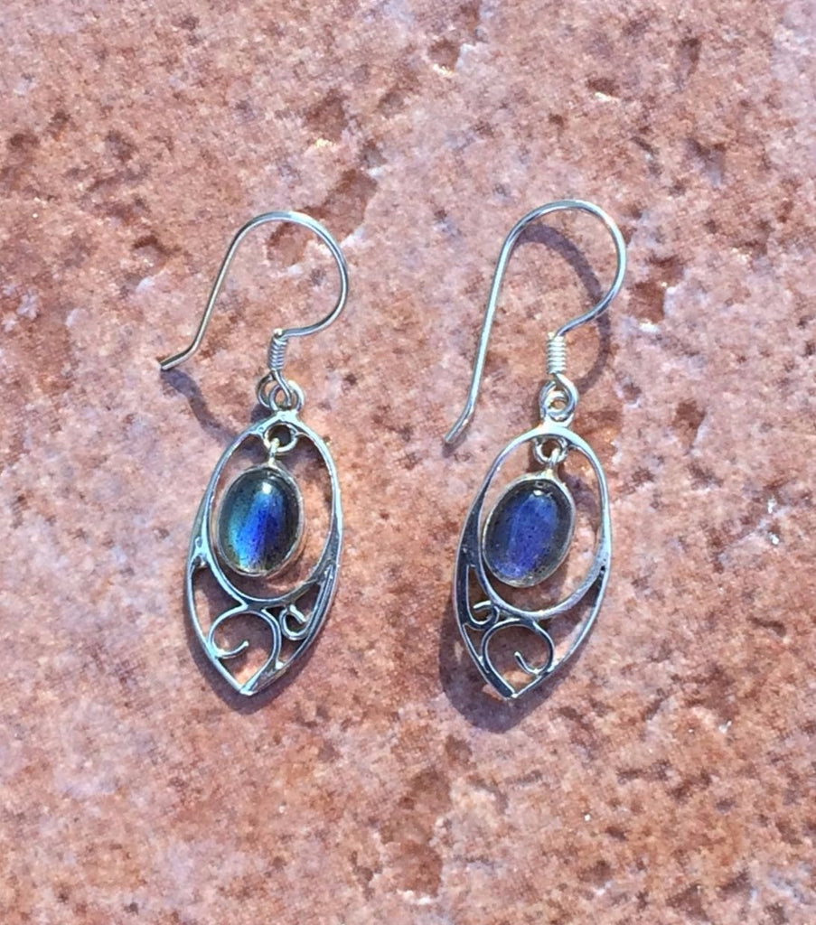 Labradorite Swirl Earrings, $29 | Sterling Silver | Light Years Jewelry
