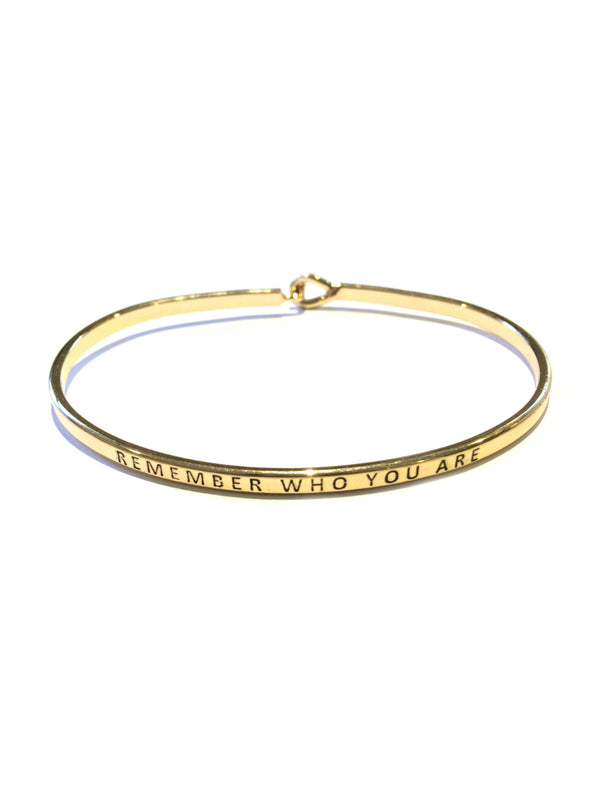 """Remember Who You Are"" Cuff Bracelet 